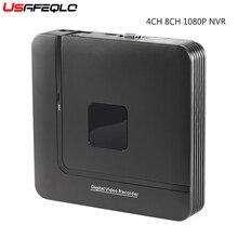 Nvr minicanel de vigilância inteligente, full hd, 4 canais, 8 canais, cctv independente, nvr 1080p 4ch 8ch onvif 2.0 para sistema ip da câmera 1080p