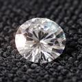 Queen Brillo 1.5 carat ct 7.5mm F Color Ronda Cut Loose Moissanite Laboratorio Crecido Diamante Prueba Positiva