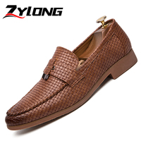 Plus Size 38 47 Luxury Office Shoes Men High Quality Handmade Italian Gentlemen Shoes Elegant Men's Wedding Shoes Brown Black