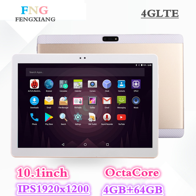 2018 NEW Octa Core 3G 4GLTE Tablet PC 4GB RAM 64GB ROM Dual Cameras 8MP Android 7.0 Tablet 10.1 inch Handheld computers 7 8 10 lnmbbs metal new function tablet android 7 0 10 1 inch 1 gb ram 16 gb rom 8 core dual cameras 2 sims 3g phone call gps