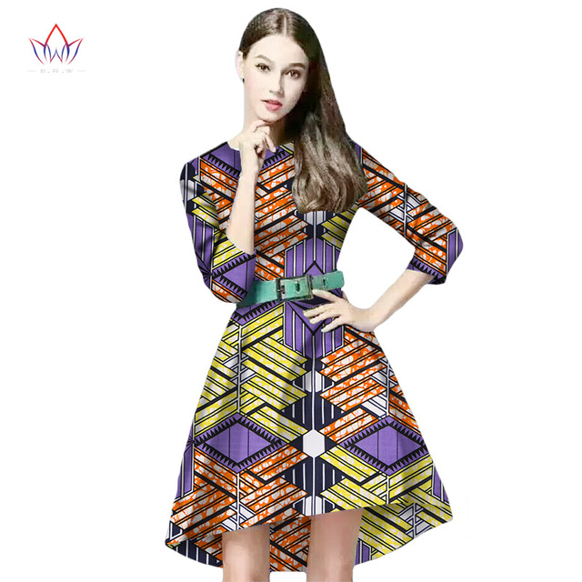 81404594975 African Print Dresses Women O-Neck Knee-Length Vintage Dresss Women Party  Dresses DressDashiki Dress Plus Size 6XL WY180