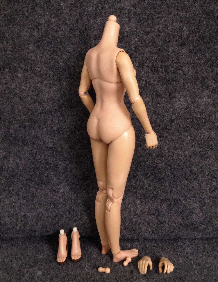 "KUMIK 1//6 Scale Nude 12/"" Figure Extra Hands 2.5 Female Body Fit Kumik Head Model"