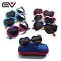 2016 Novas Crianças dos miúdos Bonitos Da Criança Óculos Polarizados Óculos de Sol da Forma Do Coração meninos Meninas miudos los forma de coracao oculos de sol EV1213
