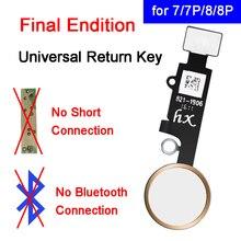 Para o iphone 7 mais voltar funtion solução casa botão para iphone 8 8 plus edição final universal casa retorno chave cabo flexível