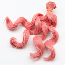 1PC 15*100cm  High temperature Wave Hair Row for 1/3 1/4 1/6 BJD/SD doll Curly Wigs