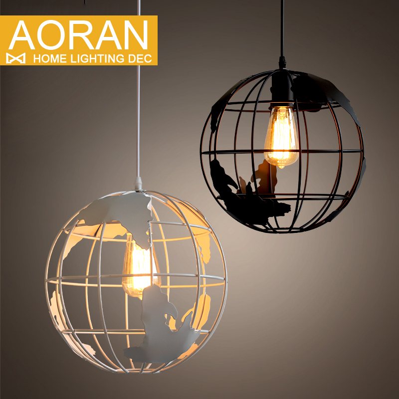 New Design Globes Pendant Lamps Metal Painted Black Color