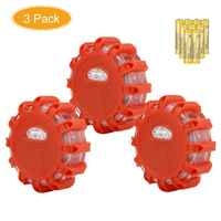 3Pack LED Emergency Safety Flare Road Flashing Warning Light Roadside Light For Car Boat Truck Flares