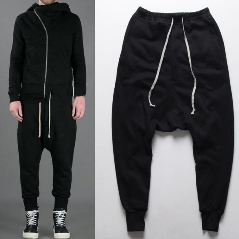 Casual Men Pants 2016 Harem Pants Mens Autumn Winter Joggers Men Hip Hop Pants Drop Crotch Jogger Clothing Male Trousers 50