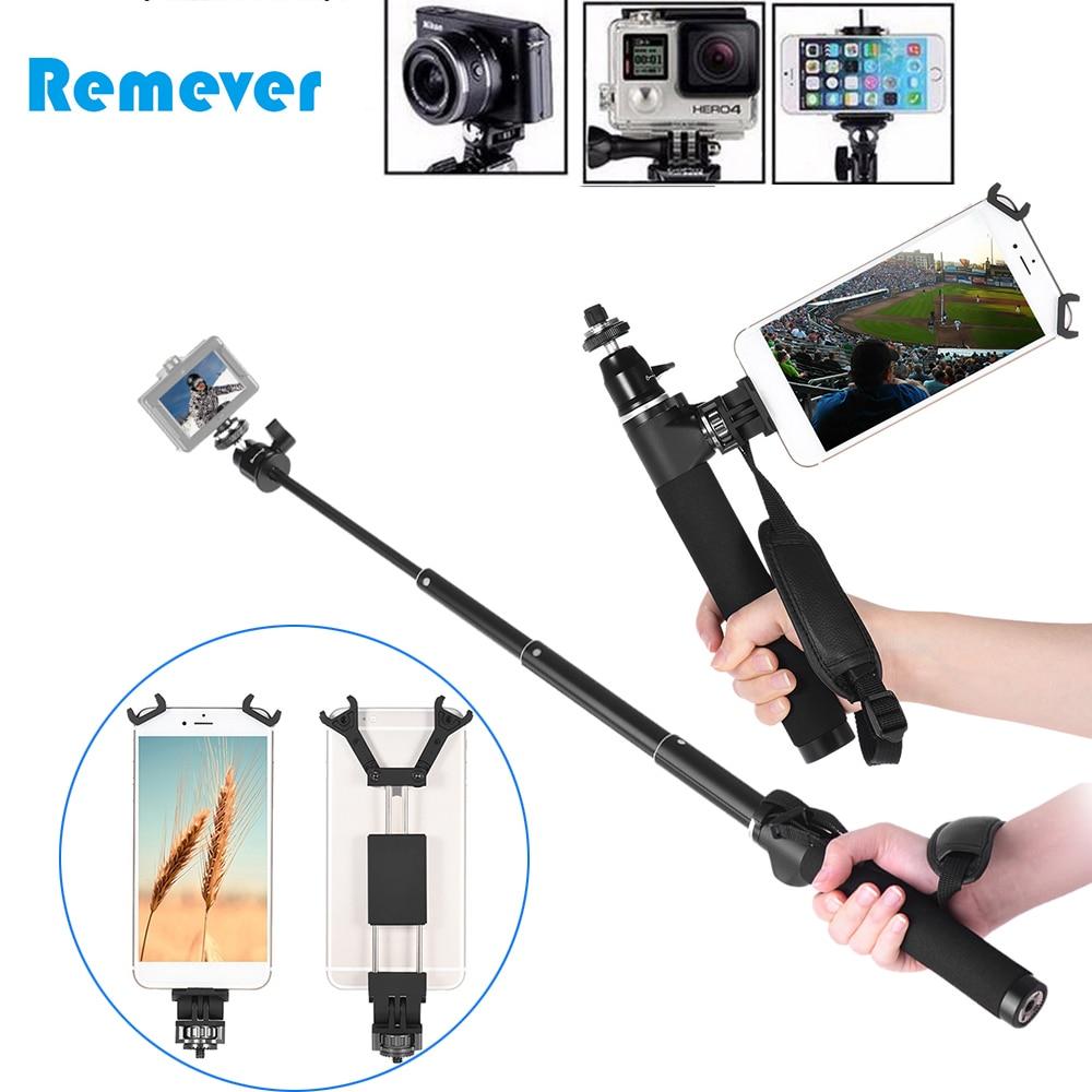 Monopode extensible de bâton de Selfe pour la caméra d'action de héros de Gopro bâton de Selfie d'alliage d'aluminium avec la vis 1/4