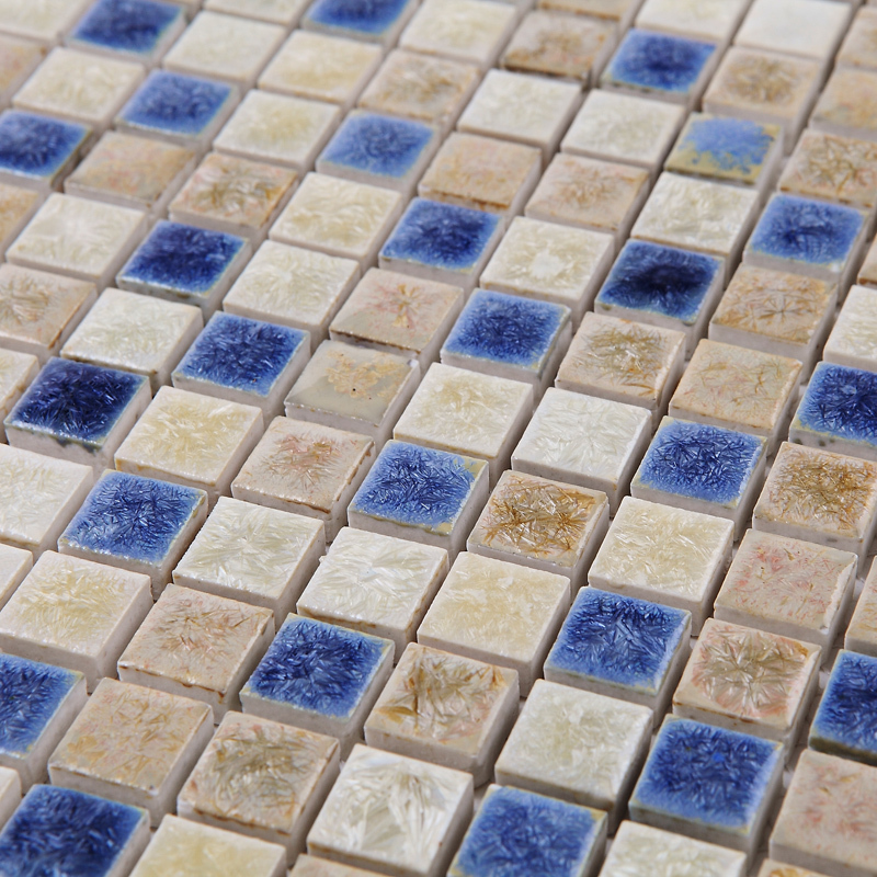 Blue White Kiln Polished Porcelain Ceramic Tiles Mosaic Hmcm1044 Kitchen Backsplashl Tile
