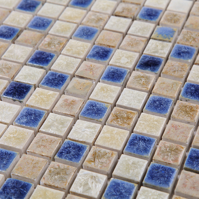 Blue White Kiln Polished Porcelain Ceramic Tiles Mosaic Hmcm1044