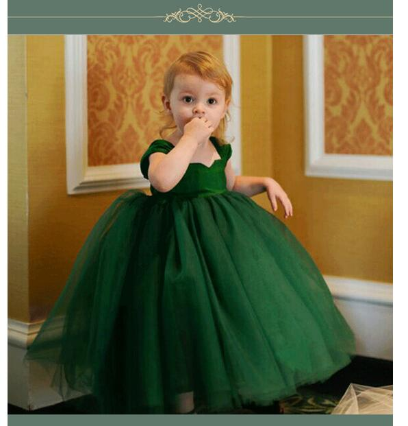 Baby Girls Pageant Formal Dresses 2017 Summer Gowns Cute Infant Girls Princess tutu Dress Kids Birthday Wedding Party Dresses