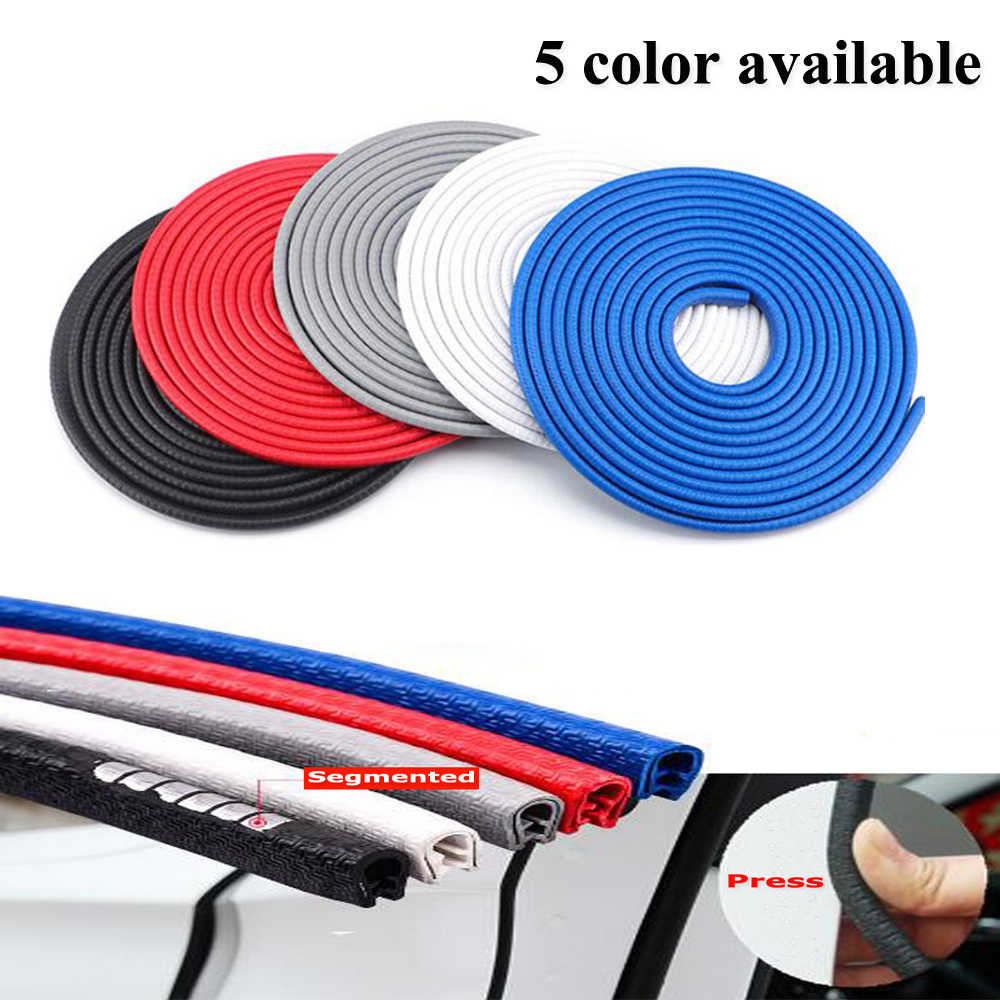 Upgrade 5M Car Door Edge Protection Strips Car Stickers Car Styling Moldings Rubber Steel sheet Car Door Anti Collision Strips