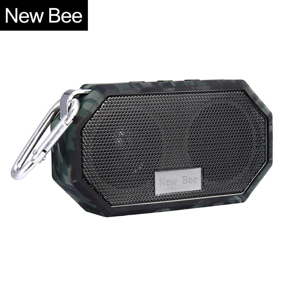 Nova Abelha alto-falantes À Prova D' Água Do Chuveiro Portátil Sem Fio Bluetooth Speaker Mini Subwoofer Chamada Hands-free Mic para o Telefone PC