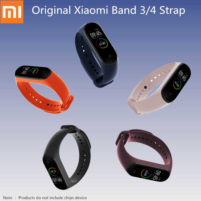 Original Xiaomi Silicone Replacement Wristband Bracelet Watchband For Xiaomi Mi Band Miband 4 3 Band4 Wrist Strap Charge Cable