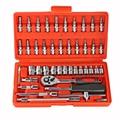 YOFE 46pc High Quality Socket Set Car Repair Tool Ratchet Set Torque Wrench Combination Bit a set of keys Chrome Vanadium