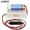 Atwfs placa de cerámica generador de ozono coche portátil de alta calidad dc12v 7g purificador del aire del esterilizador del ozono del coche