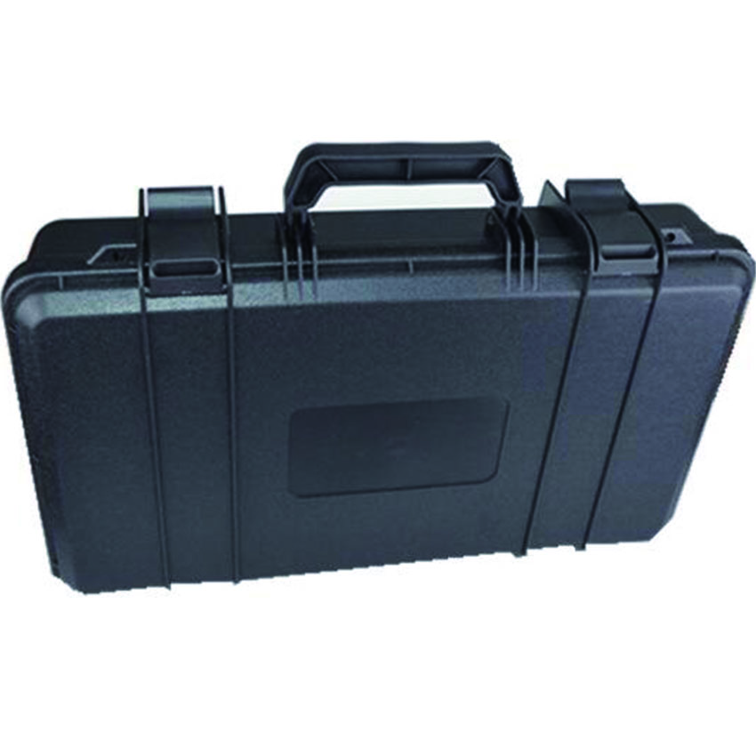 Lightweight pp material plastic storage tool box without foam light weight black hard abs plastic storage tool case without foam