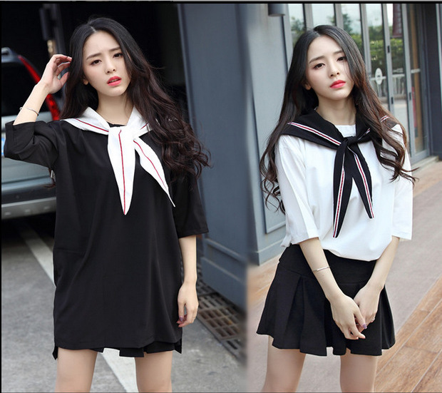 Novelty & Special Use Work Wear & Uniforms Dashing Lovely University Students Costumes Japanese Style Girls School Uniforms Sailor Collar Clothes Stage Performance Clothing M L