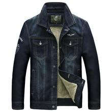 Hip hop denim jacket men brand jeans jacket chaquetas hombre 2016 Winter parka men warm thicken denim fur jacket plus size