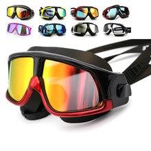 Genuine Men and Women Swimming Goggles Large Frame Adult Swim Eyewear HD Anti-fog Waterproof Swimming Glasses Polarized