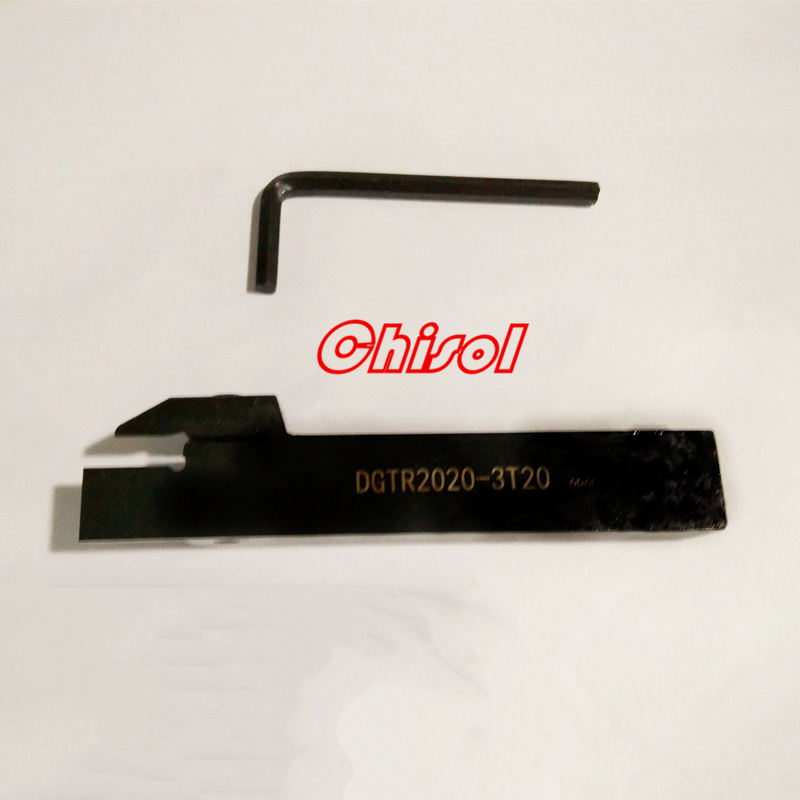 free shipping high quality grooving inserts holder tools cutter bar DGTR2020-3T20 for  carbide insert DGN3003J IC907 IC908
