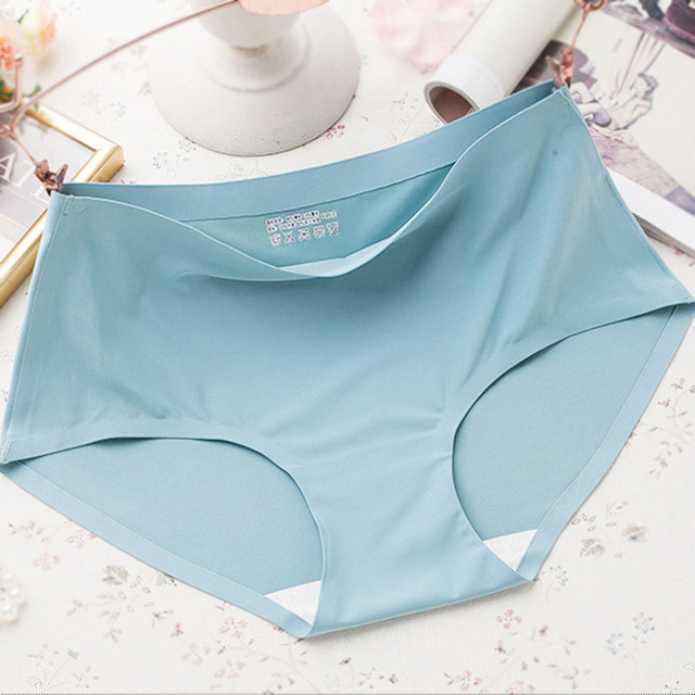 af0dd1ac83c4 Soft Women Panties Thin Briefs Seamless Panties Solid Color Lingerie  Underwear Women Elasticity Ice Silky Panties For Women
