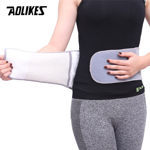 2018 Winter Waist Warmer Belt Thicken Plush Back Support Lumbar Stomach Keeping Warm For Old Men Women Warming House Support