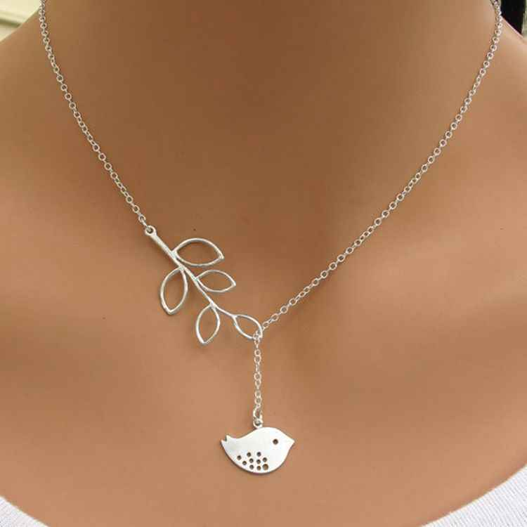 Seblasy vente chaude feuilles plume infini simulé-perle croix chaîne pendentifs colliers pour femmes saint valentin cadeaux Femme
