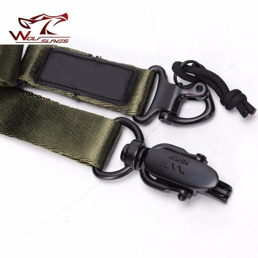 Loup esclaves nouvelle arrivée tactique gun sling Dynamics MS2 Noir/OD/TAN Réglable 1000D Nylon Gun Sling Strap avec boucles en métal