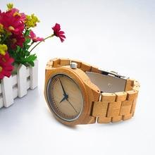 Estilo Del Encanto de La Joyería de Moda de Lujo de los hombres De Bambú De Madera de Cuarzo Analógico Reloj de pulsera