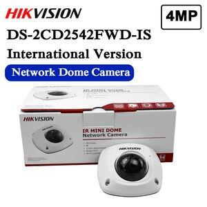 Image 1 - W magazynie bezpłatna wysyłka angielska wersja DS 2CD2542FWD IS Audio 4MP WDR Mini kamera sieciowa kopułkowa