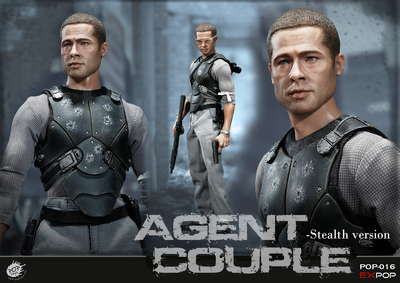 POPTOYS 1/6 Scale EX018 Mrs. Smith SM Ver. Action Figure Agents Mrs. Smith Battle ver. Couple Series Full Set Action Figure 1