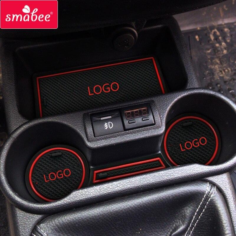 Smabee puerta groove mat para Lada Kalina accesorios, 3D estera del coche de goma pad ranura puerta antideslizante esteras decoración del coche