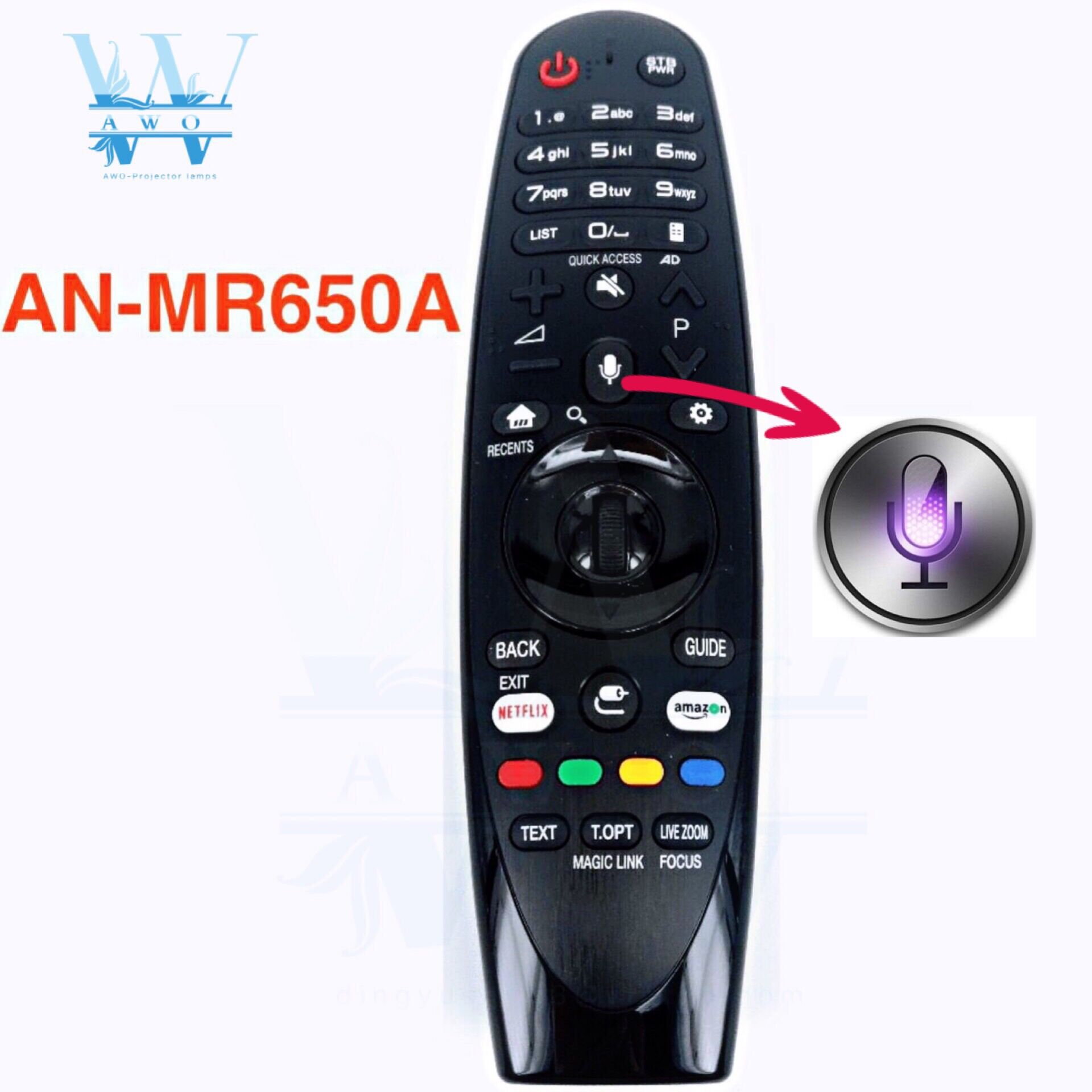 AWO 1PCS NEW Original AN MR650A For LG Magic Remote Control with Voice Mate for Select 2017 Smart television 65uj620y