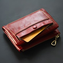 women genuine leather wallet mini coin purse cowhide lady mini clip wallets