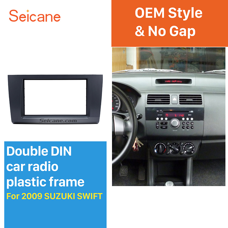 Seicane harika 2Din için araba radyo fasya 2004 2005 2006 2007 2008 2009 Suzuki Swift Stereo Dash Trim kurulum çerçeve yüz plakası