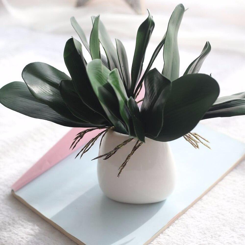 Фаленопсис искусственное растение с листьями декоративные цветы вспомогательный Материал украшенные цветами листья орхидеи невесты Свад...