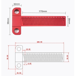 Image 4 - Woodworking Scribe 260mm T type Ruler Hole Scribing ruler Drawing Marking Gauge crossed out Measuring Tools woodworking tools