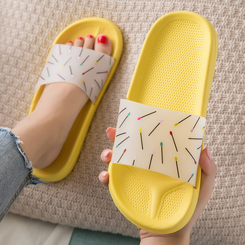 EVA Light Women Flat Bath Slippers Summer Sandals Indoor & Outdoor Slippers Non-slip bathroom shoes home casual slippers fayuekey 2018 new spring summer fashion genuine leather home couples slippers indoor floor outdoor slippers non slip flat shoes
