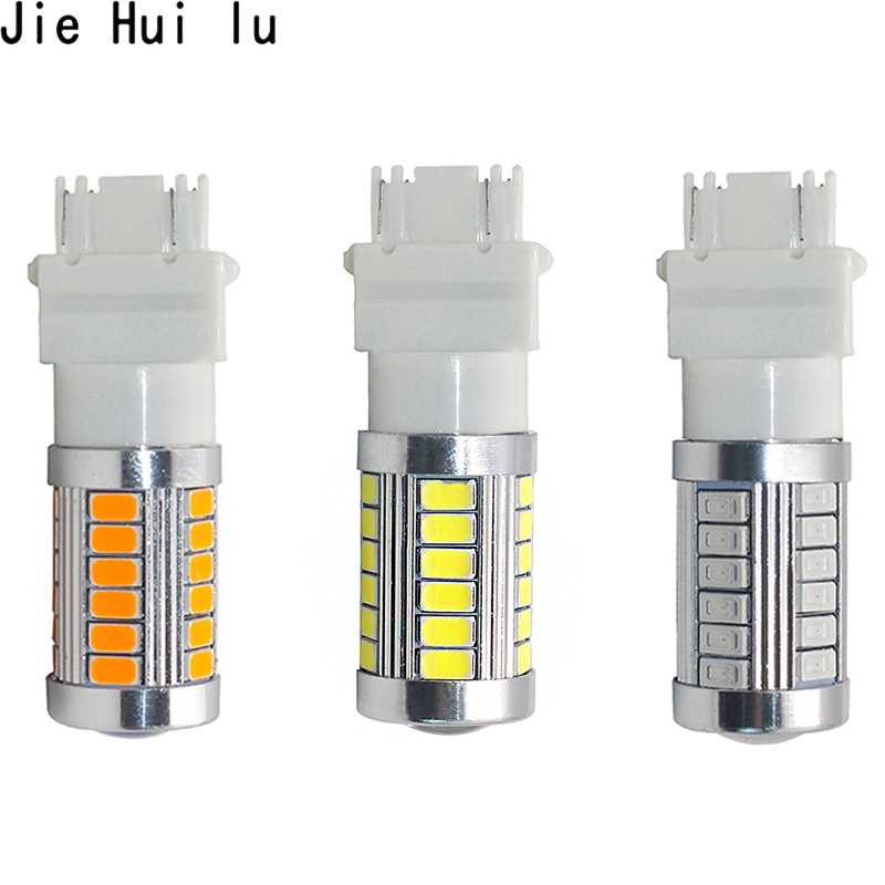 1pcs T25 3156 3157 P27/7W 33 SMD 5630 5730 LED Car Brake Lights Motor Daytime Running Light Turn Signal white/red/yellow/amber 3156 3w 1 smd led red light car steering backup light 12v
