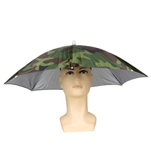 Big Sale Foldable Camouflage Headwear Sun Umbrella Fishing Hiking Beach Camping Hat
