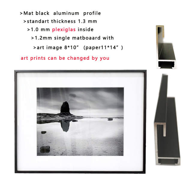 US $20 24 8% OFF|custom size on metal Aluminum picture frame pls inform  inner dimension or art prints size, no matboard-in Frame from Home & Garden  on