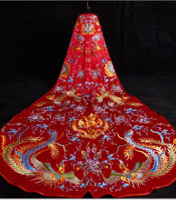 Red Big cloak Will Bride 2019 New Pattern Phoenix Coronet And Robes Of Rank Costume Chinese Style Wedding Dress The Wedding(China)