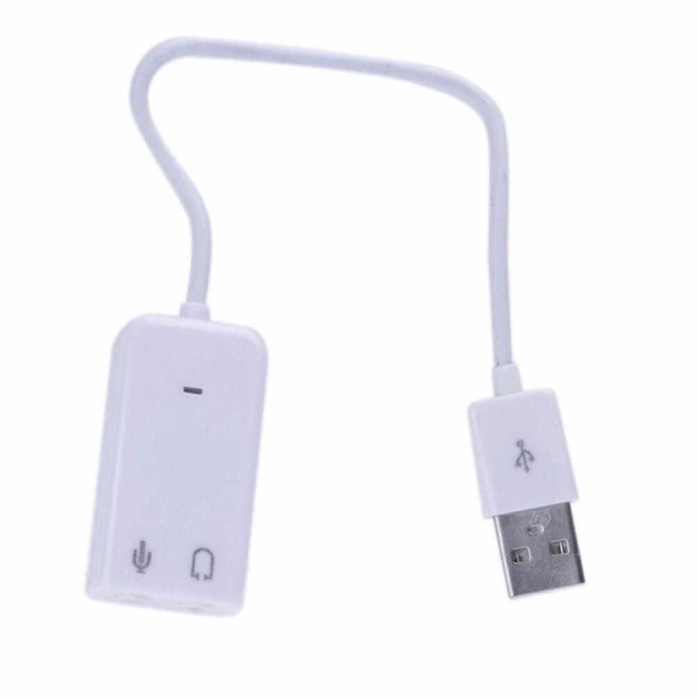 Offre spéciale! 2016 nouveau pc de bureau USB 2.0 3D canal virtuel Audio carte son adaptateur pour Windows 7, en STOCK!