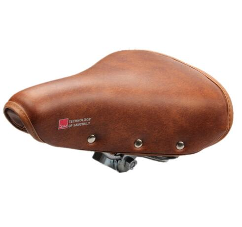 Bicycle Saddle Vintage Retro Riveted Cycling Saddle Comfortable Durable Seat Cover Bike Accessories sillin bicicleta carretera riveted