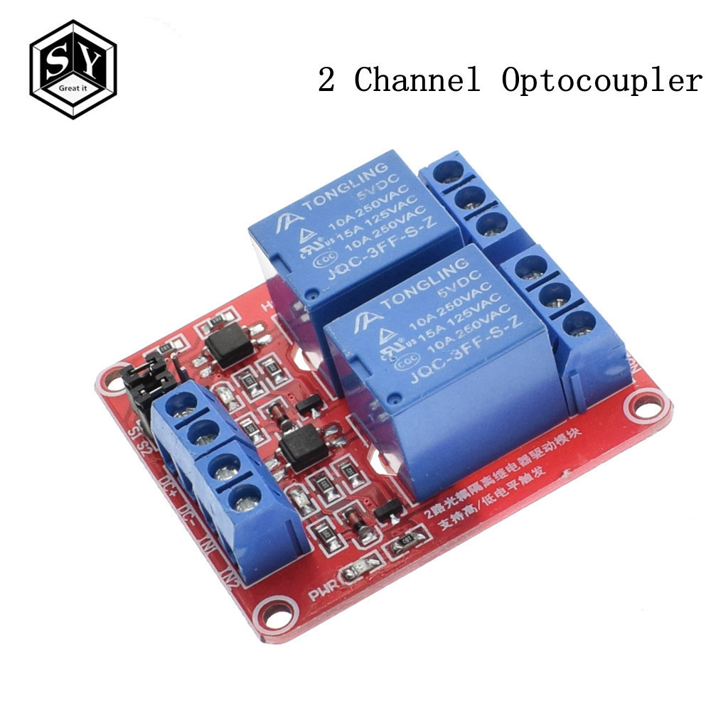 Tzt 1pcs 1 2 4 8 Channel 5v Relay Module Board Shield With Through An Optocoupler Circuit Electronic Projects Support High And Low Level Trigger For Arduino Red In Integrated Circuits From