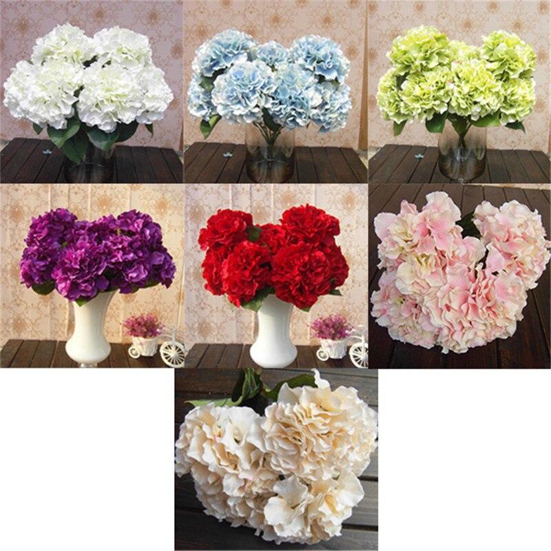 1 Set 28 Heads Artificial Bunch Fake Silk Daisy Flower Hydrangea