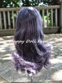 Blyth scalp with hair for normal skin doll, dark purple hair