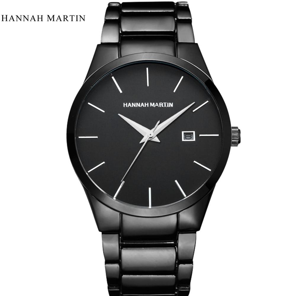 relvio masculino Hannah Martin Luksuslik brändi täis roostevabast - Meeste käekellad - Foto 3